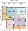 Дом из бруса 9х9.5м. Проект дома Д-26. Площадь - 130м2
