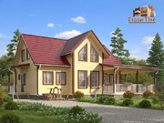 Дом из бруса - 11х15,5м. Проект дома Д-67. Площадь - 157 м2