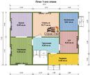 Проект дома Д-23. Размеры - 7х9м. Площадь - 111м2