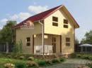 Каркасный дом - 6х7м. Проект Д-15. Площадь - 72 м2