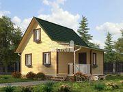 Каркасный дом - 6х8м. Проект дома Д-37. Площадь - 66м2