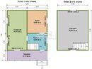 Каркасный дом - 6х7.5. Проект дома Д-40. Площадь - 63м2
