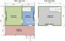 Проект дома Д-45. Размеры - 6х6 м, Площадь - 40 м2