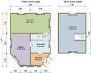 Каркасный дом - 6х8м. Проект дома Д-47. Площадь - 68м2