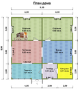 Каркасный дом - 8х8м. Проект дома Д-55. Площадь - 64 м2