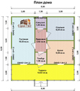Каркасный дом - 8х8м. Проект дома Д-62. Площадь - 64 м2