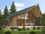 Каркасный дом - 10х13.5м. Проект дома Д-65. Площадь - 114 м2