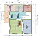 Дом из бруса 7.5х8м. Проект дома Д-20. Площадь - 90 м2