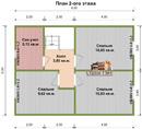 Каркасный дом - 7.5х8. Проект Д-20. Площадь - 90м2