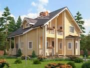 Дом из оцилиндрованного бревна 10.2х11м. Проект дома ДО-10