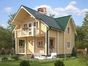 Дом из оцилиндрованного бревна 7х9,5м. Проект дома ДО-3