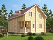 Дом из оцилиндрованного бревна 7,5х10,5м. Проект дома ДО-8