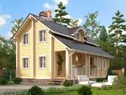 Дом из оцилиндрованного бревна 8х9м. Проект дома ДО-4