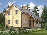 Дом из оцилиндрованного бревна 9,5х10м. Проект дома ДО-7