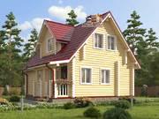 Дом из оцилиндрованного бревна 7х9м. Проект дома ДО-5