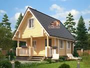 Дом из оцилиндрованного бревна 6х8м. Проект дома ДО-1