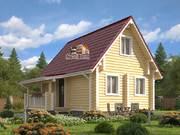 Дом из оцилиндрованного бревна 7,5х8м. Проект дома ДО-2