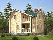 Дом из оцилиндрованного бревна 8.5х10.5м. Проект дома ДО-9