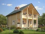 Дом из оцилиндрованного бревна 7х9,2м. Проект дома ДО-6
